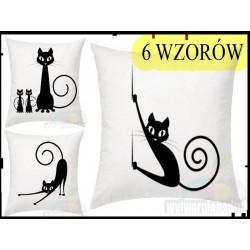 Poszewka na poduszkę Koty,kotki,kocięta 40x40 cm,dekor.