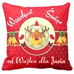 Świąteczna poduszka 40X40 + Dedykacja Mikołajki,Boże Narodzenie