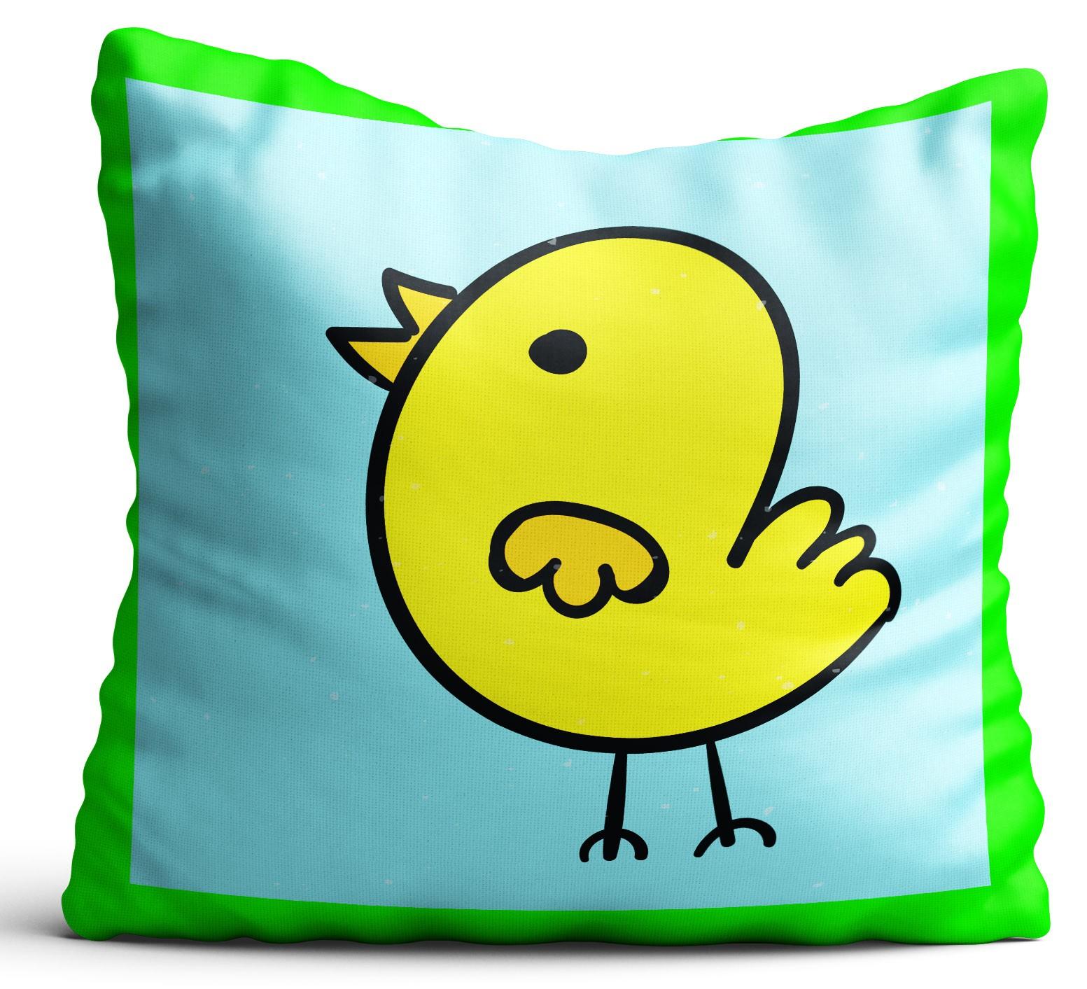 Poszewka Na Poduszkę żółty Kurczaczek Dla Dziecka 40x40 Cm