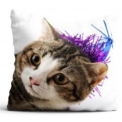 Poszewka na poduszkę Kot,piesek 60x60 cm dekoracyjna,na prezent