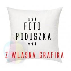 Poduszka z własnym zdjeciem + Poszewka Jasiek 40x40 cm