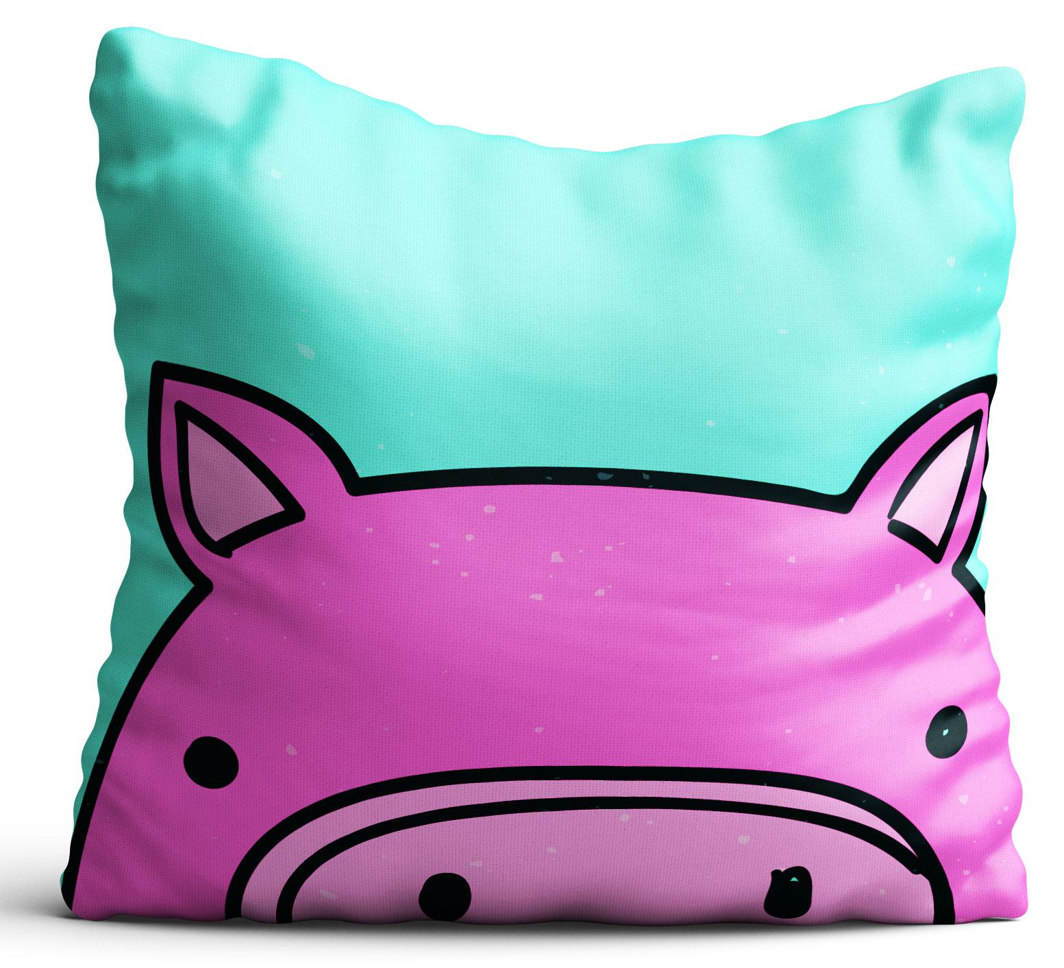 Poszewka Na Poduszkę Różowa świnka Dla Dziecka 40x40 Cm